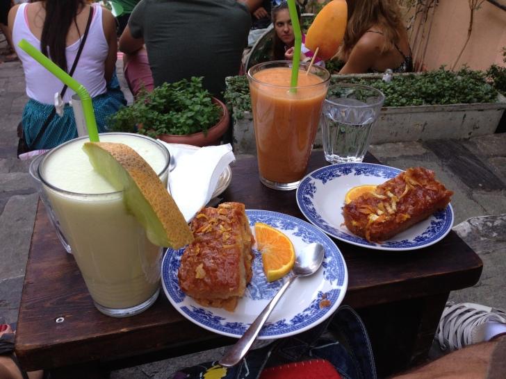"Some sweet treats at `Giasemi cafe"" at Plaka"