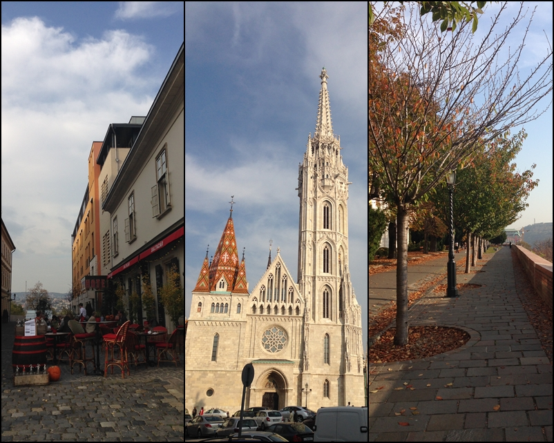 all around Buda and Matyas church